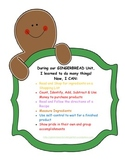"""Gingerbread  Bakery Trip (an """"At School or Home"""" Simulated Field Trip!)"""