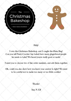 Gingerbread Bakery Word Problem