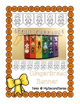 Gingerbread Banner {freebie}