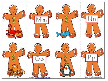 Gingerbread Beginning Sound to Letter Game