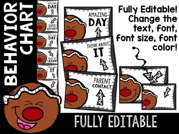 Gingerbread Behavior Chart: Editable Holiday Classroom Decor