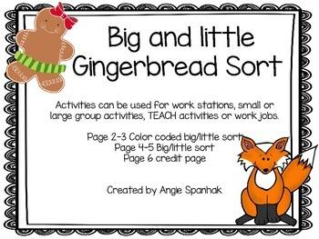 Gingerbread Big/little Sort