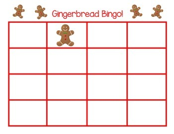 Gingerbread Bingo Boards