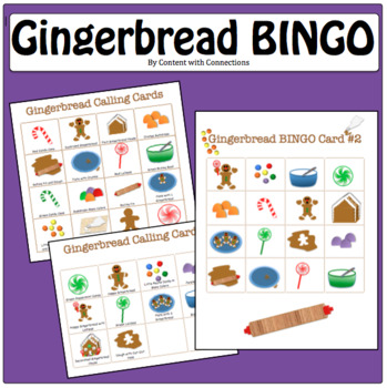Gingerbread Man Bingo: Great for Holiday Party, Winter Party, Christmas Party!