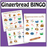 Gingerbread Man Activities: A Bingo Game For Christmas Party, Holiday Party