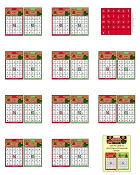 Gingerbread Bingo (Lowercase letters)