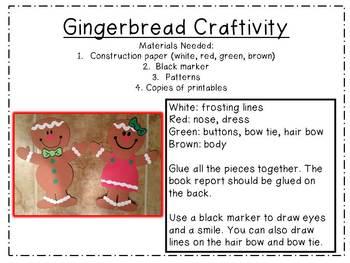 Gingerbread Book Report Craftivity