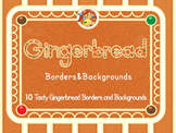Gingerbread Borders and Backgrounds