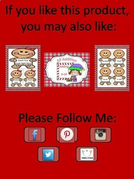 Gingerbread Boy Alphabet Letter Flashcards Uppercase and Lowercase