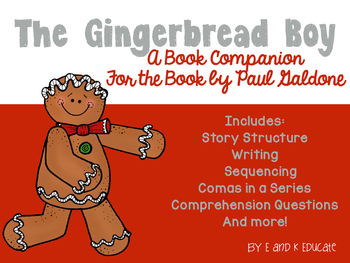 Gingerbread Boy Book Companion Mini Unit