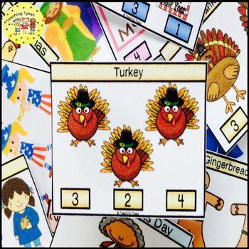 Gingerbread Boy Clip Task Cards