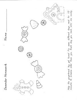 Gingerbread Boy December Homework