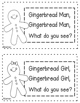 Gingerbread Boy, Gingerbread Girl What Do You See? Book