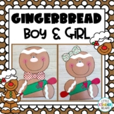 Gingerbread Boy & Girl Craft: Christmas Craft, December crafts