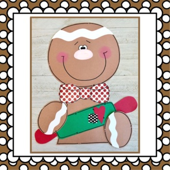 Gingerbread Boy Girl Christmas Craft By Little Kinder Bears Tpt