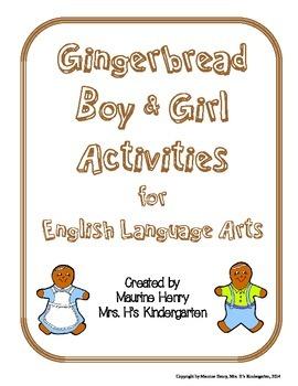 Gingerbread Boy & Girl English Language Arts Activities