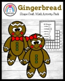 Gingerbread Boy, Girl Shape Craft, Graph, Counting Activit