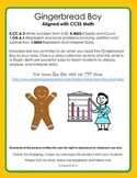 Gingerbread Boy Math graphing and glyph
