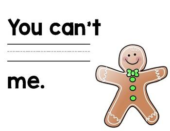 Gingerbread Boy Mentor Sentence