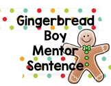 Gingerbread Boy Mentor Sentence