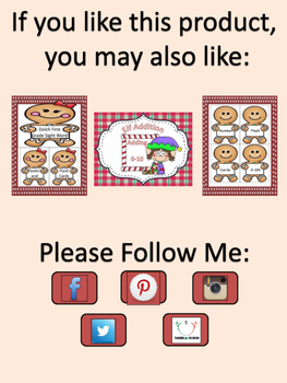 Gingerbread Boy Number Flashcards 0-100