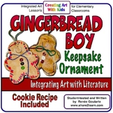 Christmas Art Gingerbread Boy Ornament Literature Connected