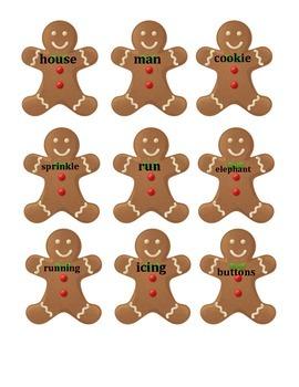 Gingerbread Boy Syllable Practice