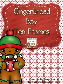 Gingerbread Boy Ten Frames
