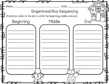 Gingerbread Boy and Girl Activities