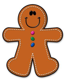 FREEBIE Gingerbread Boy - Gingerbread Man Clipart