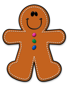 FREEBIE Gingerbread Boy - Gingerbread Man Clipart