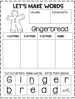 Gingerbread Boy...Reader's Theater...Activities!