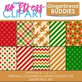 Gingerbread Buddies Digital Papers