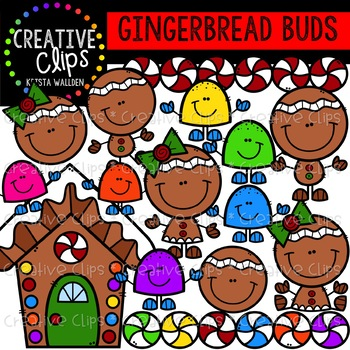Gingerbread Buds: Gingerbread Clipart {Creative Clips Clipart}