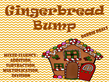 Gingerbread Bump Mixed Fluency Games