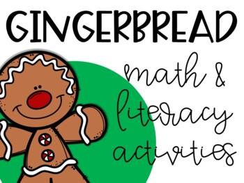 Gingerbread Bundle: Math & Literacy Center Activities
