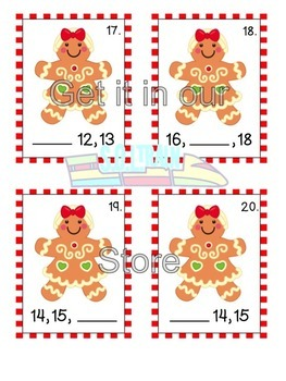 Christmas Math Gingerbread People for Missing Numbers