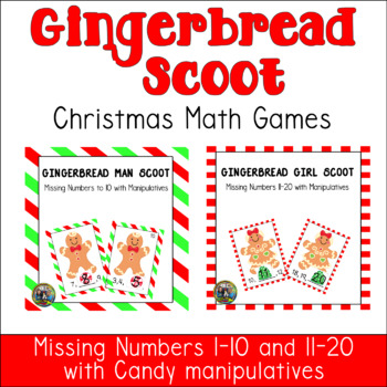 Christmas Math Gingerbread People Game