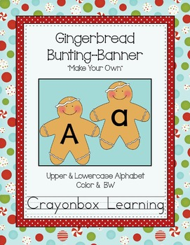 Gingerbread Bunting / Banner  { Make your own! }