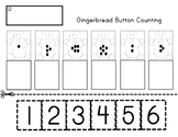 Gingerbread Button Counting Cut & Paste Numbers 1-6 Precious Preschoolers
