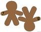 Gingerbread Button Number Match Math Center