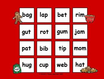 Gingerbread CVC Word Bingo