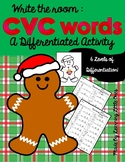 Gingerbread CVC Words: Differentiated