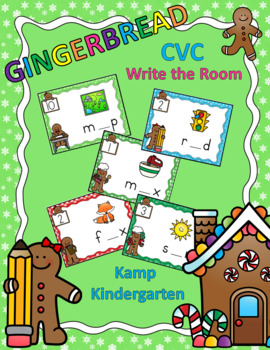 Gingerbread CVC Write the Room