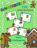 Gingerbread CVC Write the Room