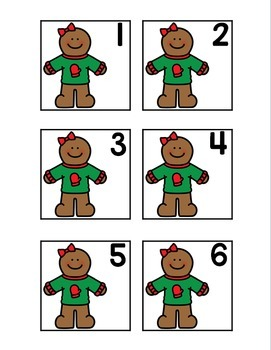 Gingerbread Calendar Numbers
