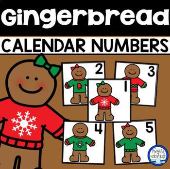Gingerbread Calendar Numbers
