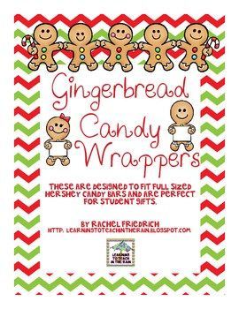 Gingerbread Candy Wrappers