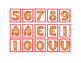 Gingerbread Capital Alphabet Numbers Literacy Math Matching Game Print Twice 3p