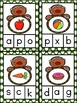 Gingerbread Capital / Lowercase Letter and Beginning Sounds Clip Cards